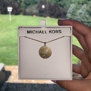 Michael Kors Jewelry - Gold circular Michael Kors Necklace!